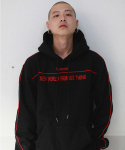 RED PIPING LINE HOODIE
