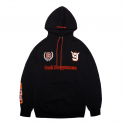 덕다이브() [DUCKDIVE]FOOTBALL HOODIE-BLACK