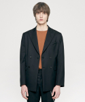 WOOL DOUBLE BLAZER black