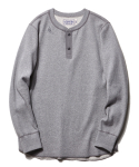 디아프바인(DIAFVINE) DV. LOT491 HEAVY WEIGHT THERMAL HENLEY L/S -GREY-