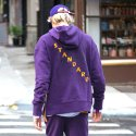 제너럴 아이디어(GENERAL IDEA) S7w05005 - Back Point Hood Sweatshirt [Purple]
