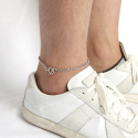 [Unisex] Unusual Chain Ankle Bracelet (Surgical Steel)/ 언유즈얼 체인 발찌
