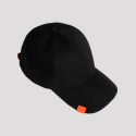 [Unisex] Addictive Orange Label Ballcap- Black / 애딕티브 오렌지 라벨 블랙볼캡