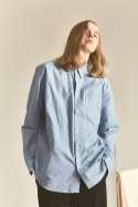 페매니쉬(FEMANISH) Logo Oxford Shirt_Sky Blue