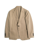 PEACHSKIN COTTON UNCONSTRUCTED JACKET - BEIGE