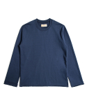 매료(MAERYO) OVERSIZED RAW EDGE SWEATSHIRTS - NAVY