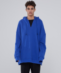 인디고칠드런(INDIGO CHILDREN) OVERSIZED V-NECK HOODIE [BLUE]