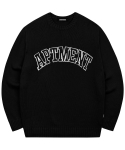 아파트먼트(APARTMENT) Pima Cotton Like Honey Knit - Black