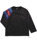 SPORTS CLUB RAGLAN PULLOVER (BLACK)