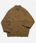 FATIGUE POCKET CARDIGAN _ BROWN