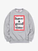 Frame Crewneck -Heather Grey