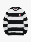 해브 어 굿 타임(HAVE A GOOD TIME) Stripe Crewneck - Black/White
