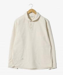 Stitches Stripe Pullover Shirts [Ivory]