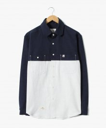 Fold Slab Shirts [Navy]