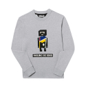 제너럴 아이디어(GENERAL IDEA) S7w05010 - Robot Embroidery Sweatshirt [Grey]