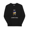 S7w05010 - Robot Embroidery Sweatshirt [Black]