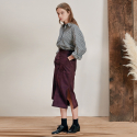 B SUEDE SLIT SKIRT_WN