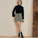 언에디트(ANEDIT) B HOUND TOOTH MINI SKIRT_DG