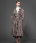 Classic Belt Checked Oversize Long Coat