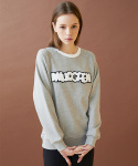 밀로그램(MILLOGREM) logo patch sweatshirts - gray