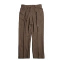 홀리선(HORLISUN) Millspaugh One Tuck Wool Pants Brown