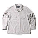 17FW OPEN COLLAR SHIRT GREY