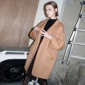 Signature Graphic Handmade Wool Coat (BEIGE)