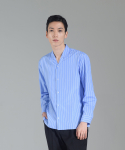 하레() Minimal Open Collar Shirts (Stripe) [HPFMTL001STP]