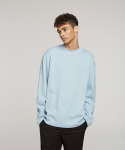 하레() Knitted Rib Sweatshirt (Skyblue) [HPFMTL004SYB]