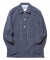 DV. LOT503 SELVEDGE INDIGO COVERT PULLOVER SHIRTS -LIGHT INIDIGO-