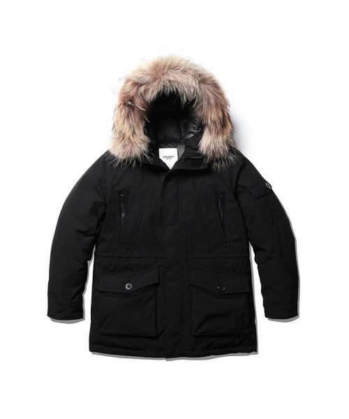 EG07 Colby Heavy Down Parka Black