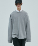 17aw oversized neutral sweatshirt [gray]