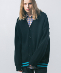 USF HEAVY LAMBSWOOL OVER CARDIGAN BLACK