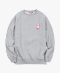 해브 어 굿 타임(HAVE A GOOD TIME) Mini Frame Crewneck - Heather Grey
