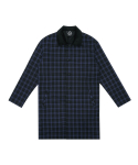 T37F CHECK COAT (BLUE)