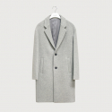 하우트옴므(HAUT HOMME) White grey cashmere felt over coat [HC13]
