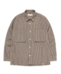 라이풀() SIDE TAPED PLAID SHIRT beige