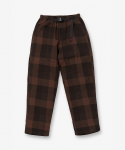 NEL CHECK LOOSE TAPERED PANTS COYOTE