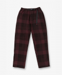 그라미치(GRAMICCI) NEL CHECK LOOSE TAPERED PANTS DARK WINE