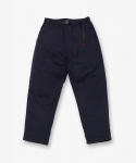 WOOL LOOSE TAPERED PANTS DOUBLE NAVY
