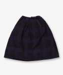 그라미치(GRAMICCI) NEL CHECK LONG FLARE SKIRT NAVY