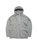 빅웨이브 컬렉티브(BIGWAVE COLLECTIVE) ATHLETIC HALF ZIP HOODY GREY