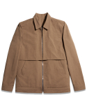Wingback Bomber Jacket - Sand brown