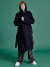 HANDMADE SOFT HOODED COAT NAVY