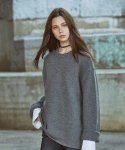 피스워커(PIECE WORKER) Oversize Alpaca Knit - Charcoal / Over Fit