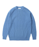 인사일런스() Lambswool Crew Neck Knit Blue