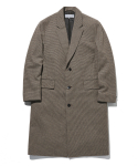 라이풀() CHECK WOOL CHESTERFIELD COAT brown