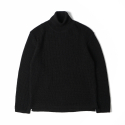 NOCLAIM 10th Anniversary Waffle Turtleneck Sweater Black