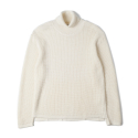 NOCLAIM 10th Anniversary Waffle Turtleneck Sweater Ivory
