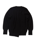 왓에버위원트(WHATEVERWEWANT) [UNISEX] MULTIRIB PULLOVER [BLACK]